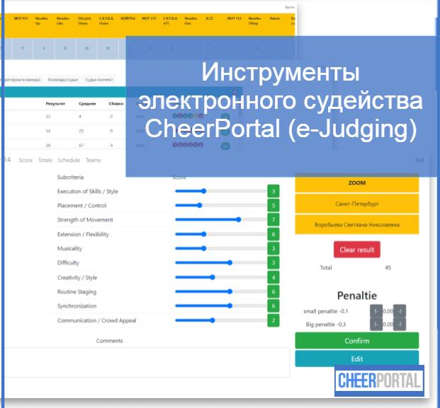 Инструменты электронного судейства CheerPortal (e-Judging)